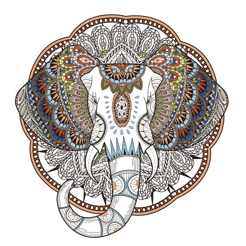 Elefante agraciado stock de ilustración