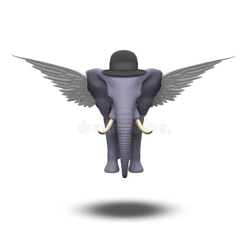 Elefante alato illustrazione di stock