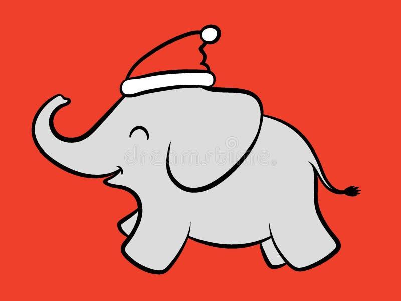 Elefante allegro di Santa del bambino royalty illustrazione gratis
