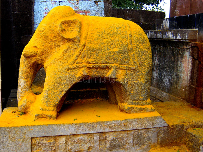 Elefante amarelo fotografia de stock