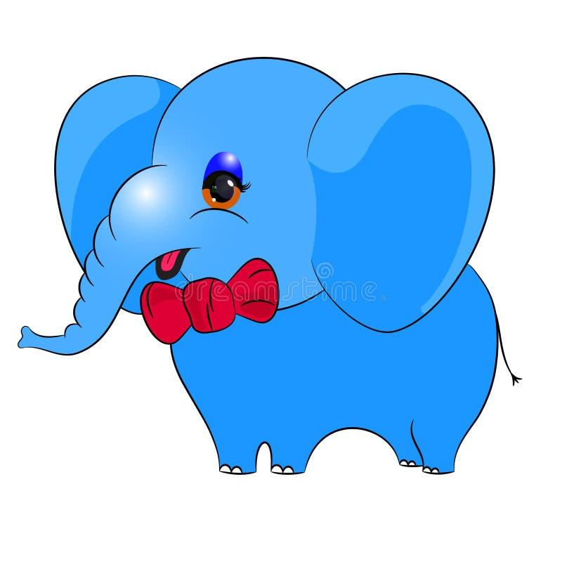 Elefante azul ilustração royalty free