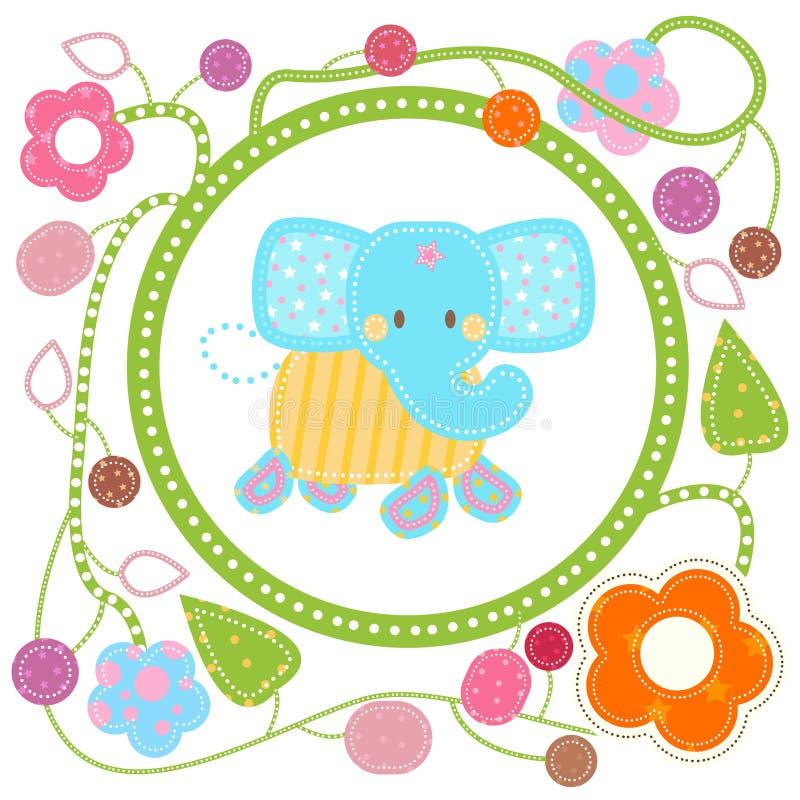 Elefante azul dulce ilustración del vector