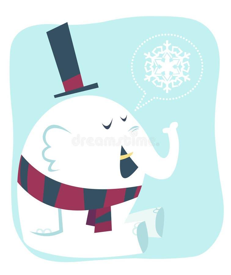 Elefante bianco royalty illustrazione gratis