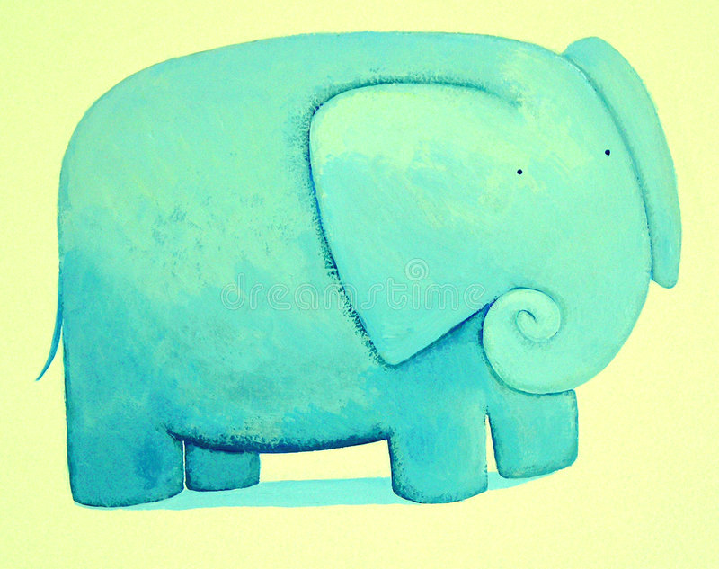 Elefante blu astratto illustrazione di stock