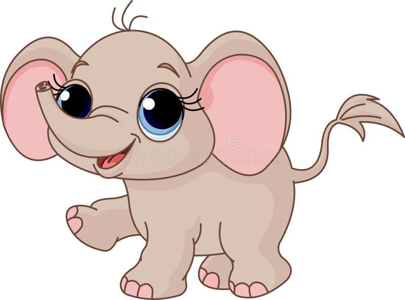 Elefante bonito do bebê ilustração royalty free