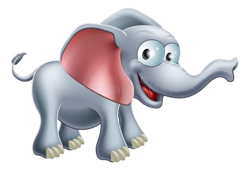 Elefante bonito dos desenhos animados ilustração do vetor