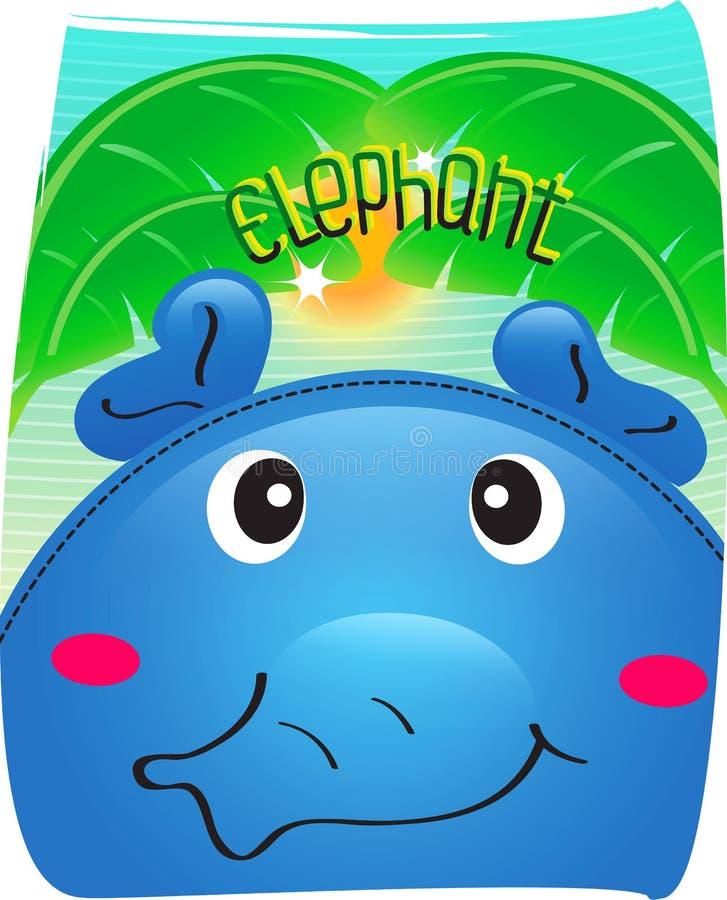 Elefante bonito no fundo selvagem imagem de stock royalty free