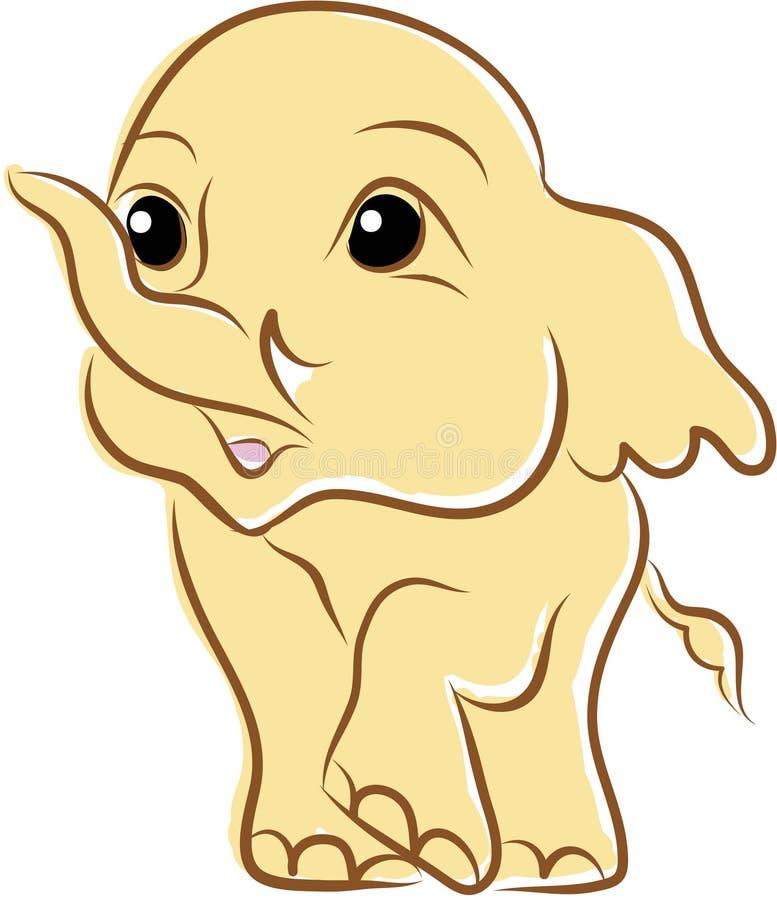 Elefante bonito pequeno, vetor ilustração royalty free