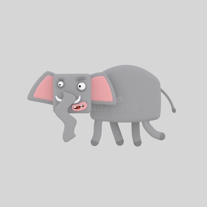 Elefante cinzento ilustração stock