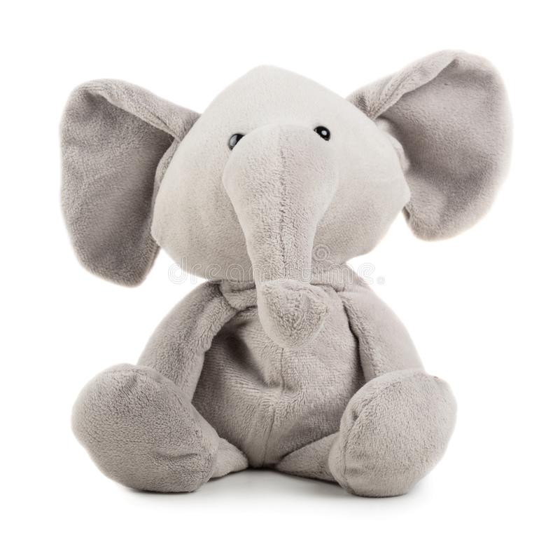 Elefante cinzento do brinquedo imagem de stock
