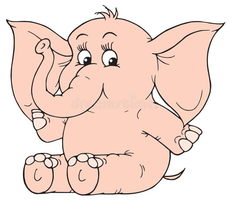 Elefante (clip-arte di vettore) illustrazione vettoriale