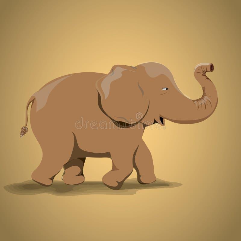 Elefante completo do corpo de Brown do vetor ilustração royalty free