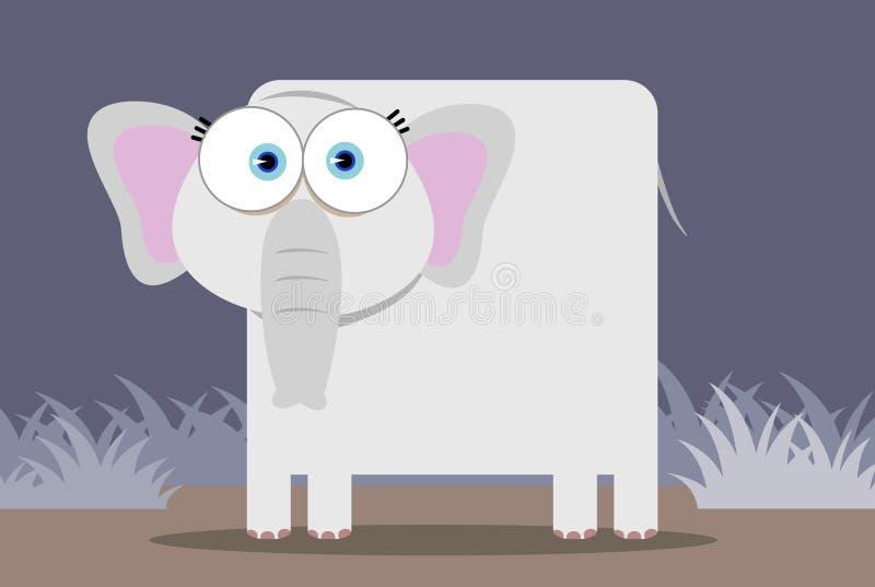 Elefante con el ojo grande stock de ilustración