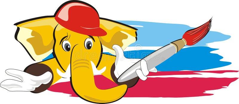 Elefante con la spazzola royalty illustrazione gratis