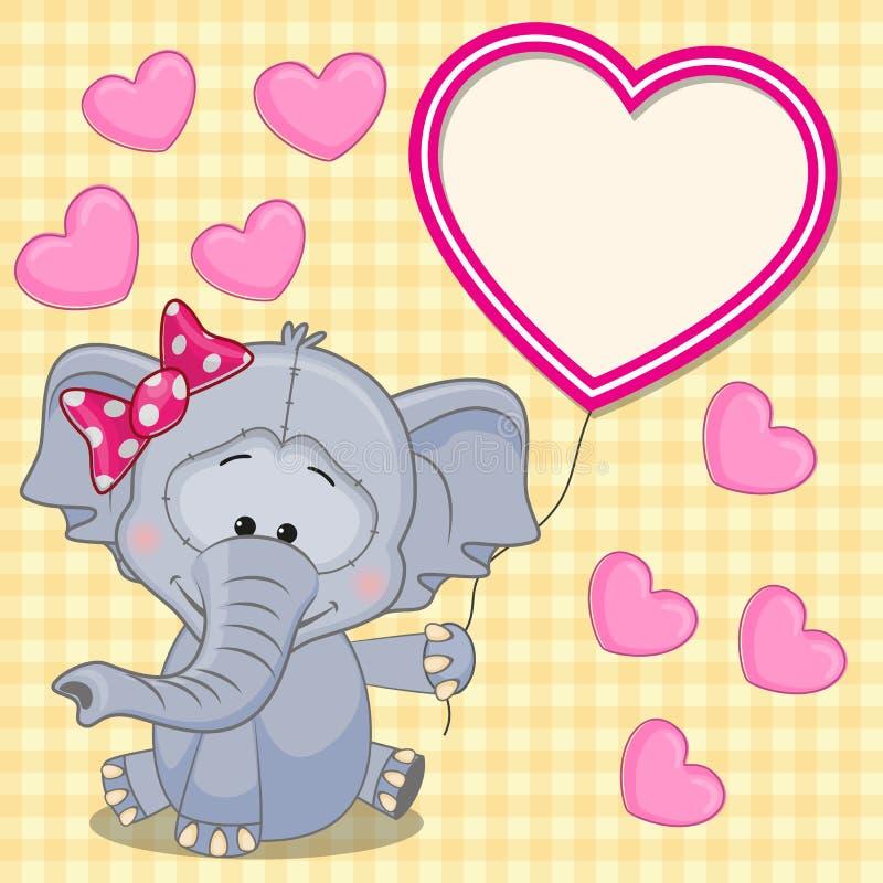 Elefante con la struttura del cuore illustrazione vettoriale