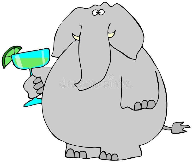 Elefante con una Margarita stock de ilustración