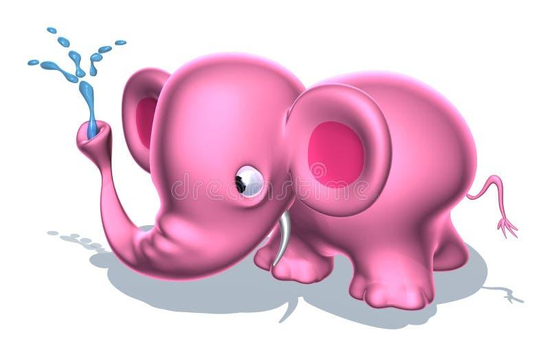 Elefante cor-de-rosa ilustração royalty free