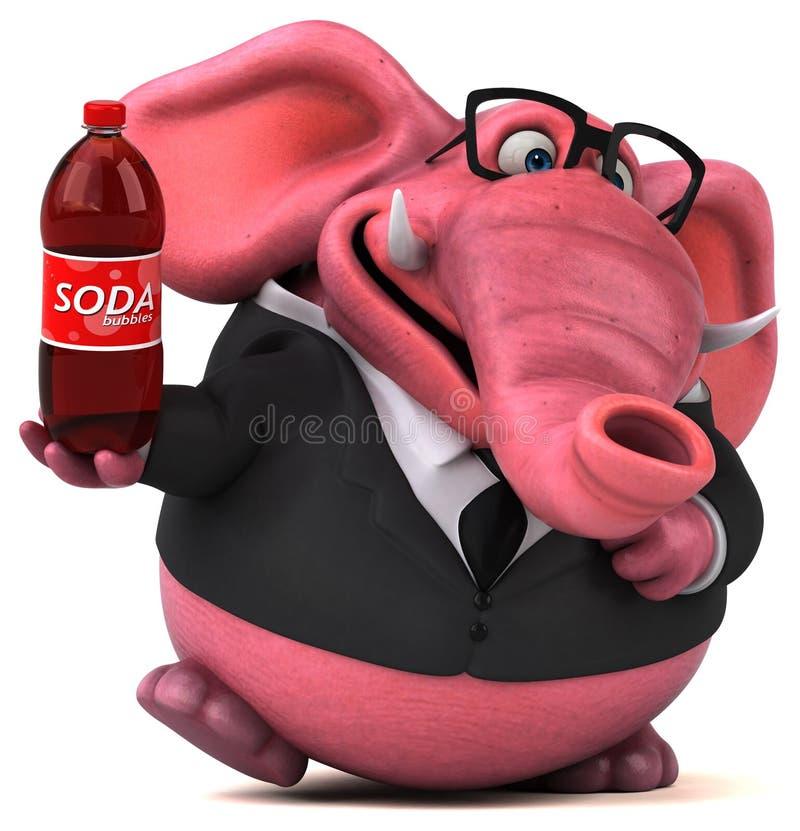 Elefante cor-de-rosa - ilustração 3D ilustração stock