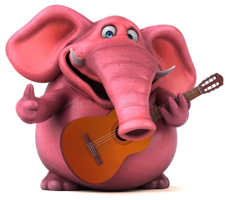Elefante cor-de-rosa - ilustração 3D ilustração do vetor
