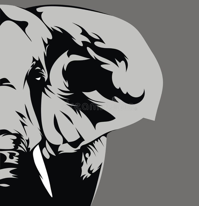 Elefante grigio illustrazione di stock