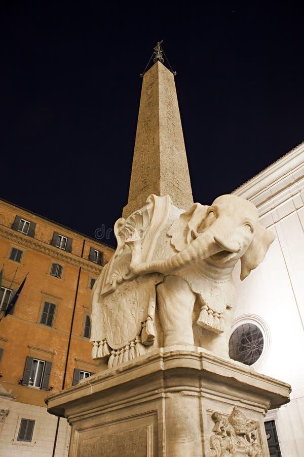 Elefante de Bernini, Roma foto de stock