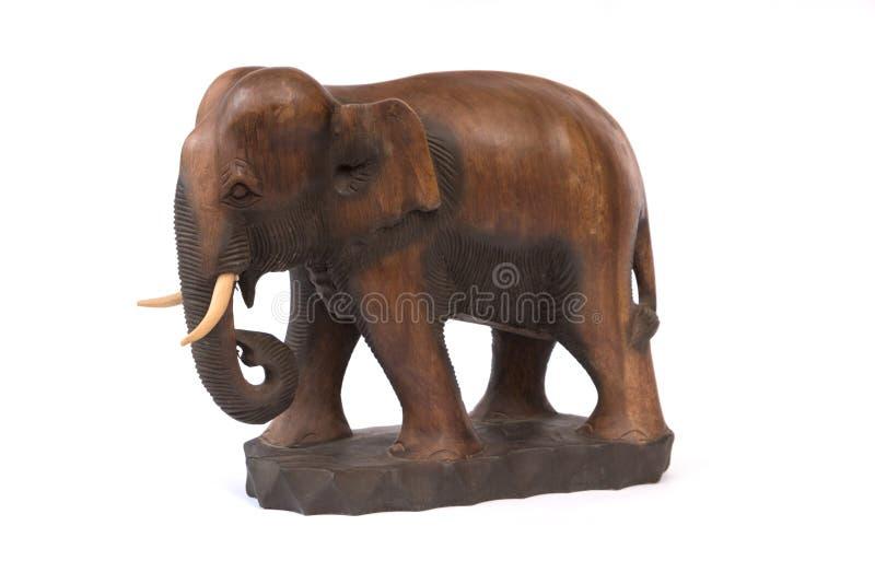 Elefante de madeira imagens de stock royalty free