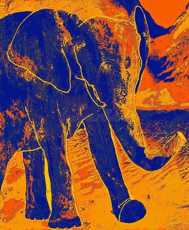 Elefante de passeio no por do sol fotos de stock royalty free