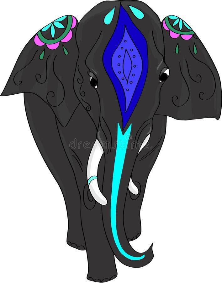 Elefante decorado indiano Ilustração do vetor ilustração royalty free