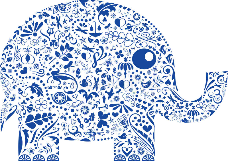 Elefante decorativo ilustração do vetor