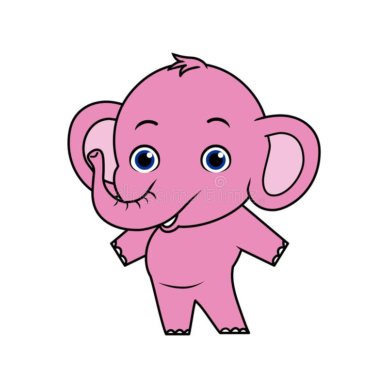 Elefante del bambino Mascotte dell'animale di vettore illustrazione di stock