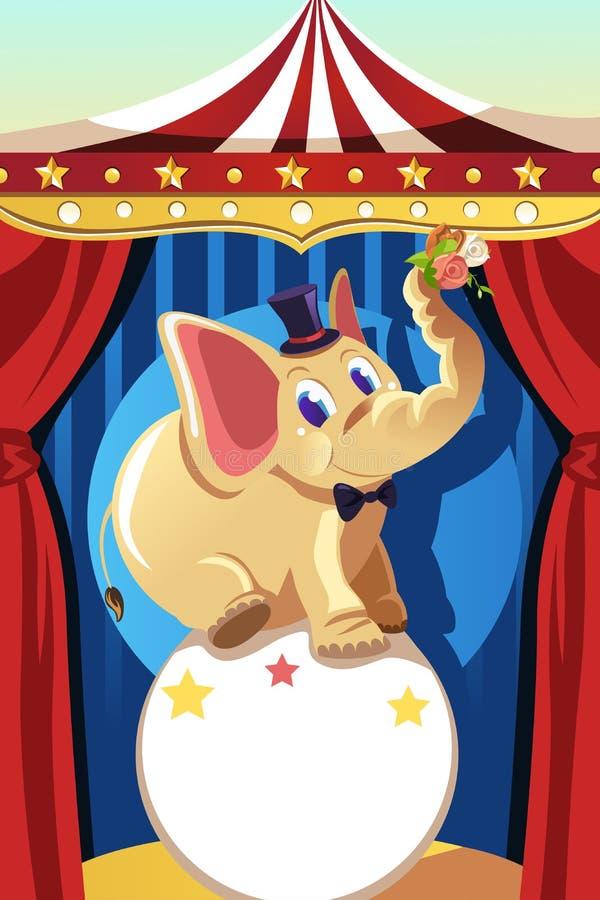Elefante del circo ilustración del vector
