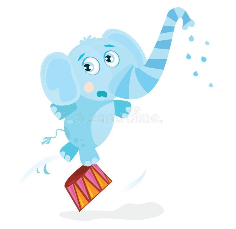 Elefante del circo stock de ilustración