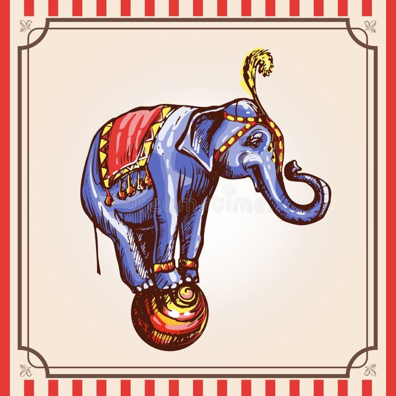 Elefante del circo libre illustration