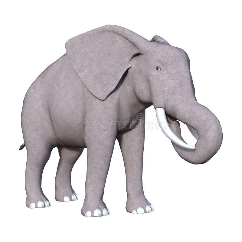 elefante della rappresentazione 3D su bianco fotografie stock