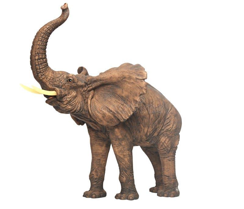 Elefante della scultura dell'intonaco fotografia stock