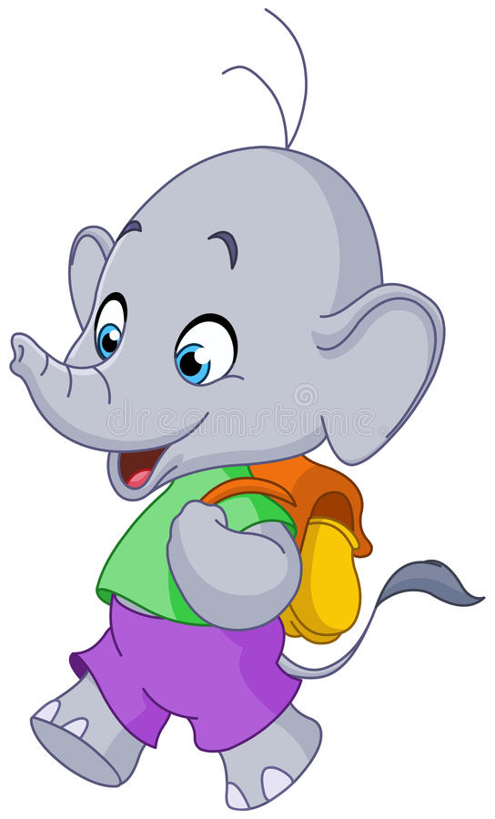 Elefante della scuola illustrazione di stock