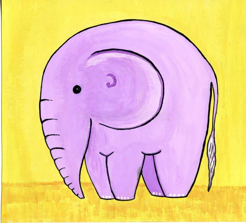 Elefante dentellare illustrazione di stock