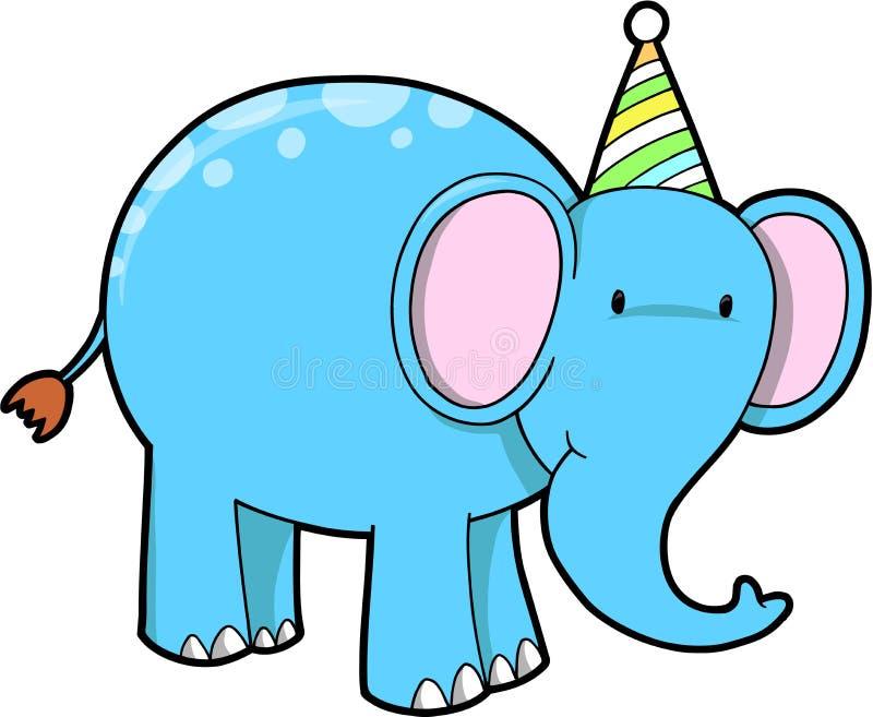 Elefante di compleanno royalty illustrazione gratis