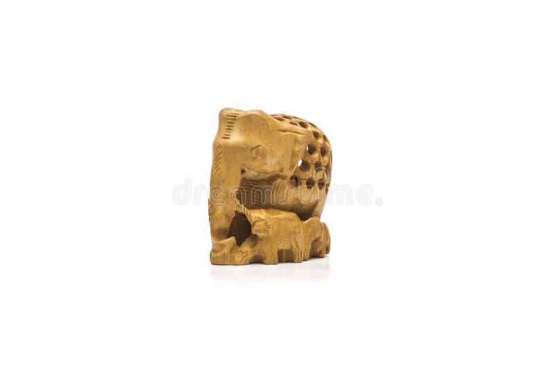 Elefante di legno immagini stock