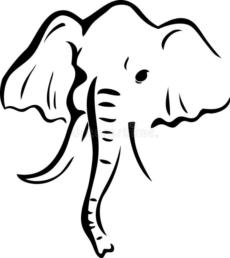 Elefante di marchio illustrazione vettoriale