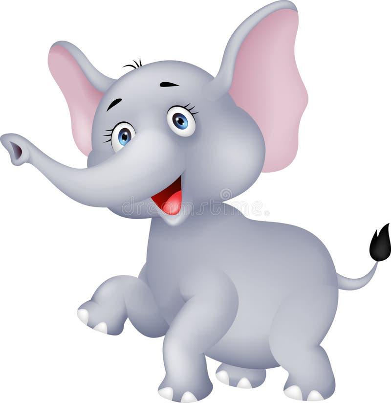 Elefante divertente illustrazione di stock
