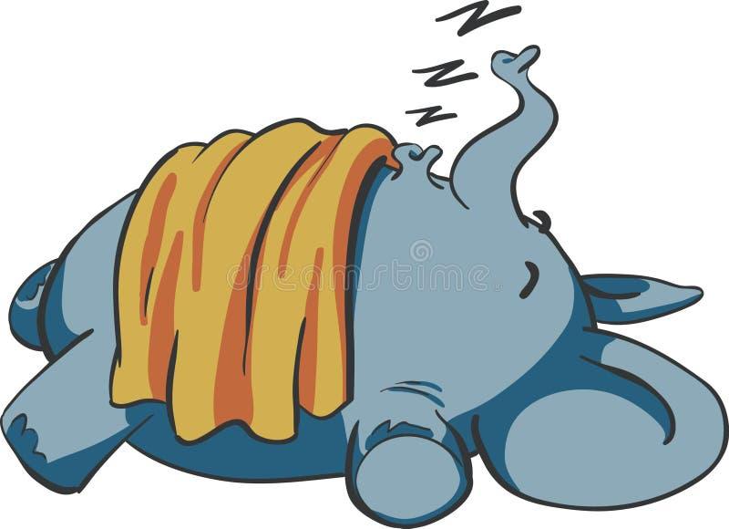 Elefante do bebê do sono foto de stock royalty free