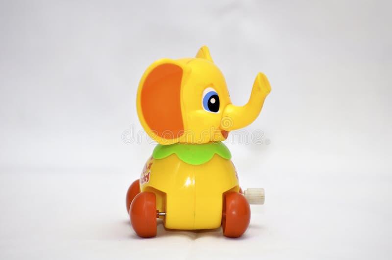 Elefante do brinquedo de maquinismo de relojoaria foto de stock