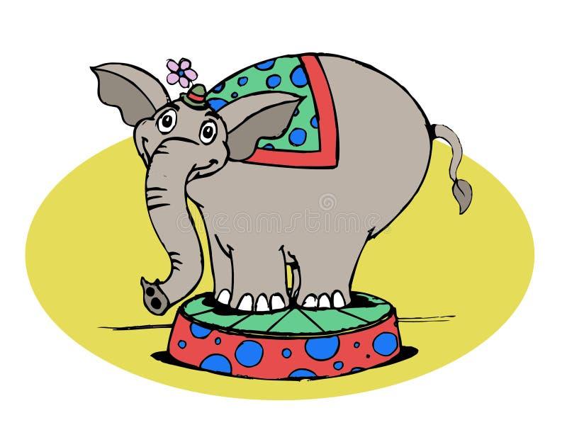 Elefante do circo fotos de stock royalty free