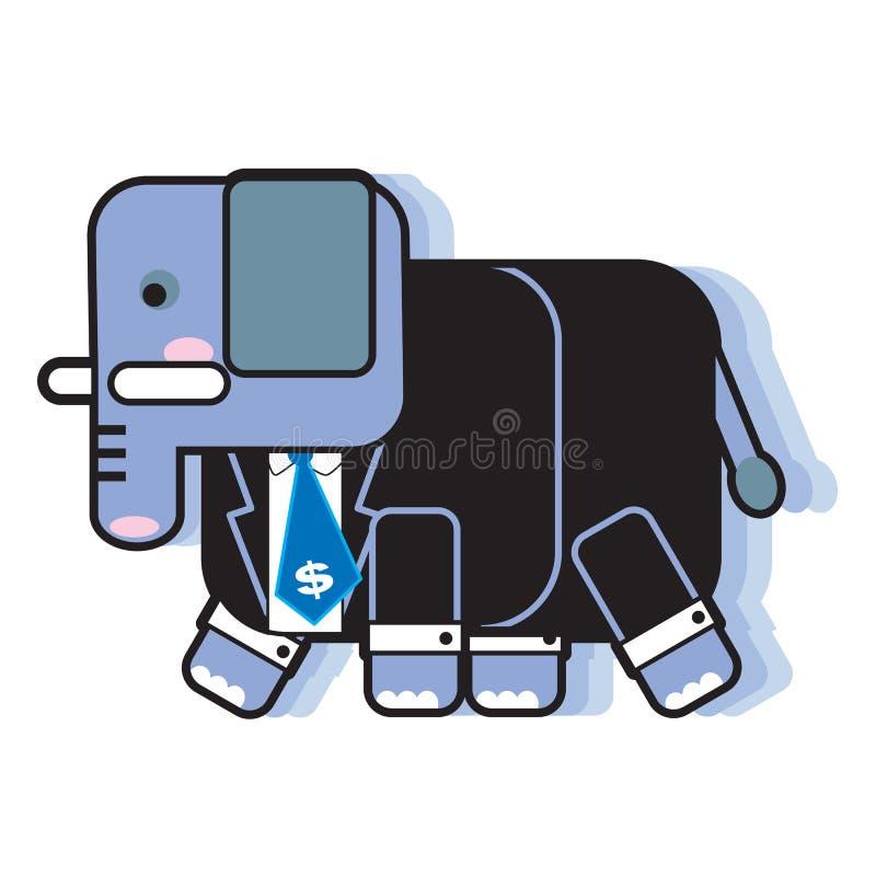Elefante do grande negócio ilustração royalty free