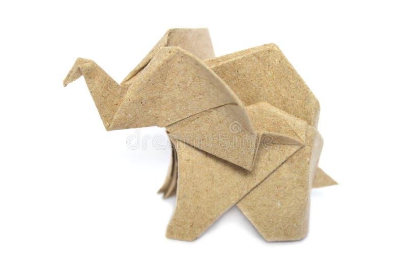 Elefante do origâmi de Brown imagens de stock