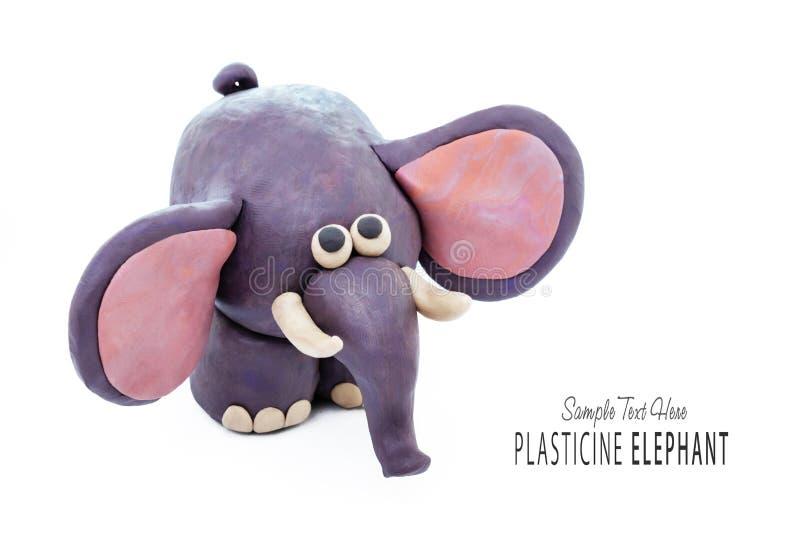 Elefante Dos Desenhos Animados Da Massa De Modelar