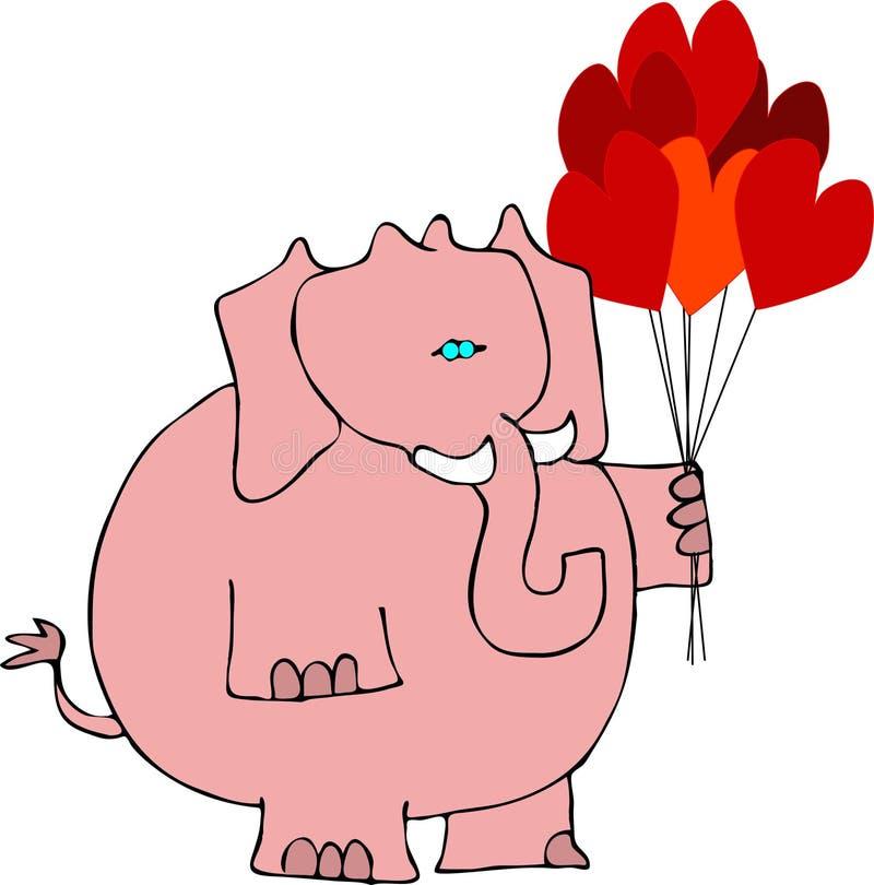 Elefante dos Valentim ilustração royalty free