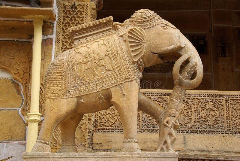 Elefante em Jaisalmer fotos de stock
