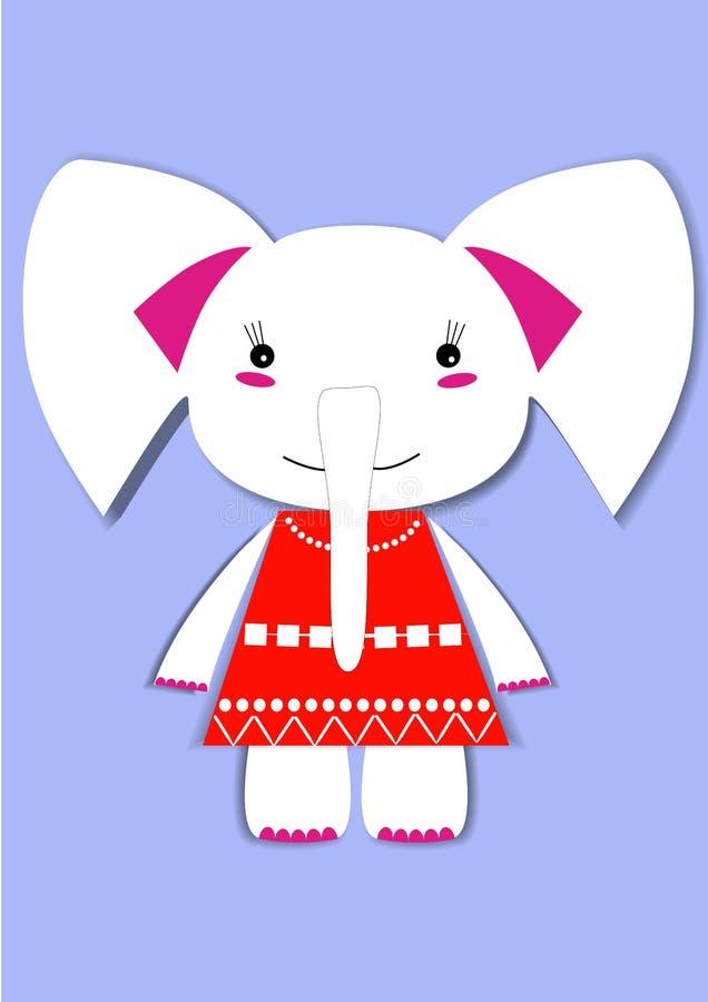 Elefante em um vestido foto de stock